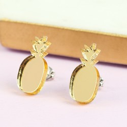 Acrylic Pineapple Stud Earrings