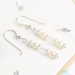 Handmade Crystal and Freshwater Pearl Drop Earrings