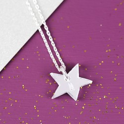 Acrylic Asymmetric Star Necklace with Initial