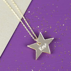 Acrylic Asymmetric Star Necklace with Name