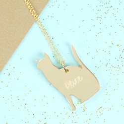 Personalised Acrylic Cat Necklace