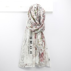 Rome Map Print Scarf
