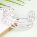 Statement Silver Double Layered Bangle