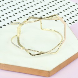 Geometric Gold Bangle
