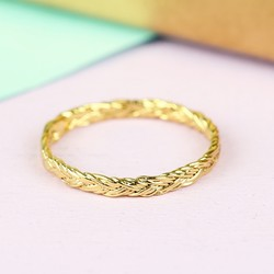 Orelia Braided Gold Midi Ring