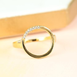 Orelia Open Crystal Circle Ring