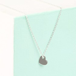 Orelia Silver Flat Heart Pendant Necklace