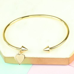 Personalised Orelia Open Cone Bangle