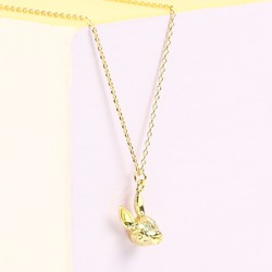Personalised Orelia Gold Bunny Head Necklace