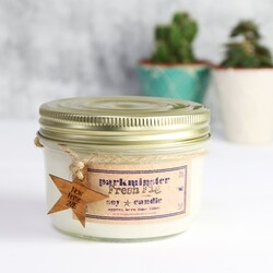 Personalised Vintage Star Fig Scented Jar Candle