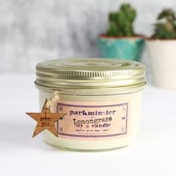 Personalised Vintage Star Lemongrass Scented Jar Candle