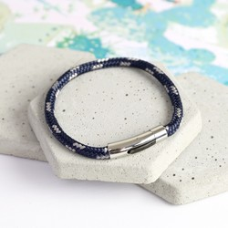 Men's Trigger Happy Sail Bracelet in Navy & Grey