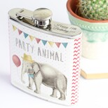 Personalised Party Elephant Hip Flask