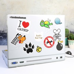 Suck UK Personalised Cat Laptop Scratch Pad