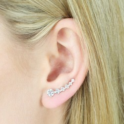 Sterling Silver Crystal Ear Climbers