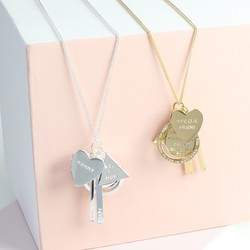 Personalised 7 Charms Necklace