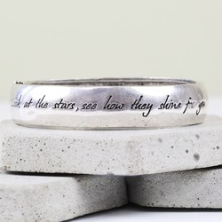 'Look at the stars' Silver Bangle