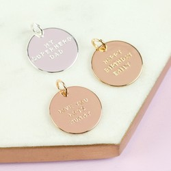 Personalised Hand-Stamped Disc Charm