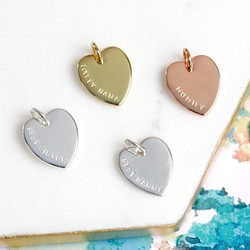 Personalised Hand-Stamped Heart Charm