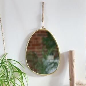 Gold Pebble Mirror