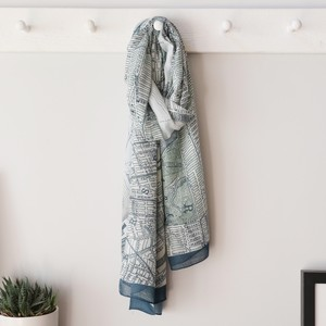 Vintage New York Map Scarf