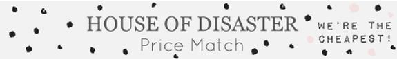 Disaster Design price match banner