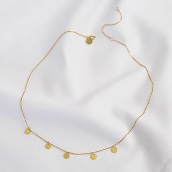 Multi Disc Charm Necklace