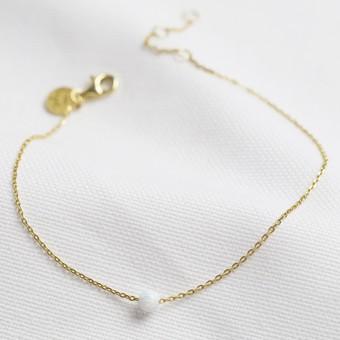 Opalite Bead Chain Bracelet