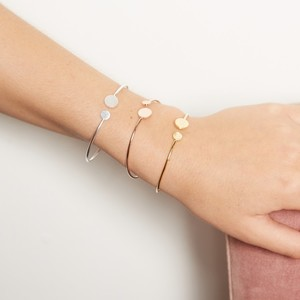 Open Disc Bangle In Rose Gold
