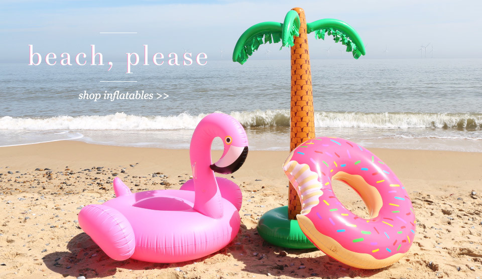 Beach, please - shop inflatables >>