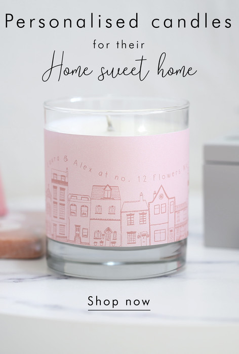Personalised candles - Shop candles >>