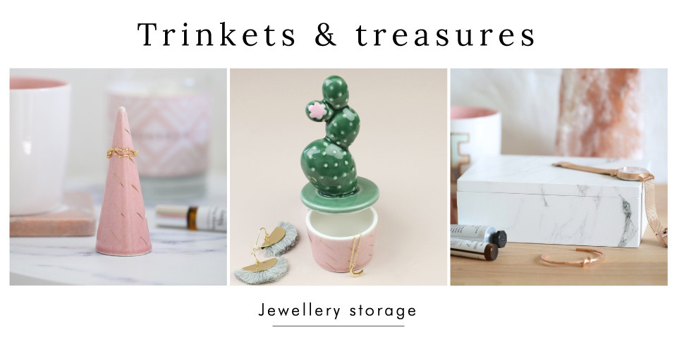 Trinkets and treasures - Shop jewellery storage >>