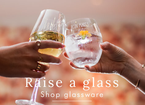 Raise a glass - Shop personalised glasses >>