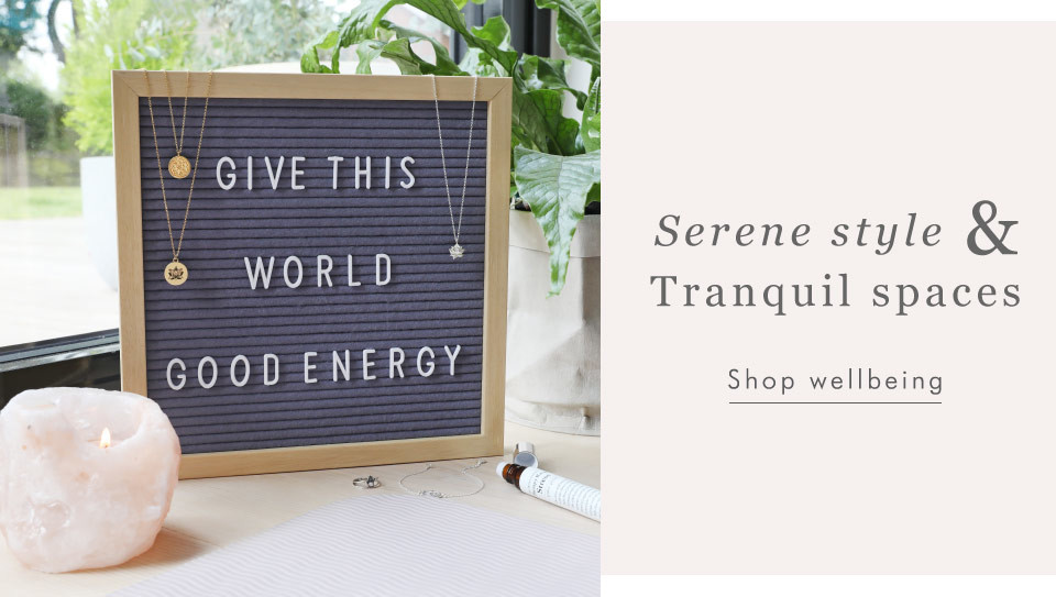 Yoga inspired homeware and jewellery - Shop wellbeing >>