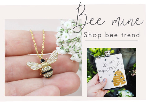 Bee necklace and hip flask - Shop bee trend >>
