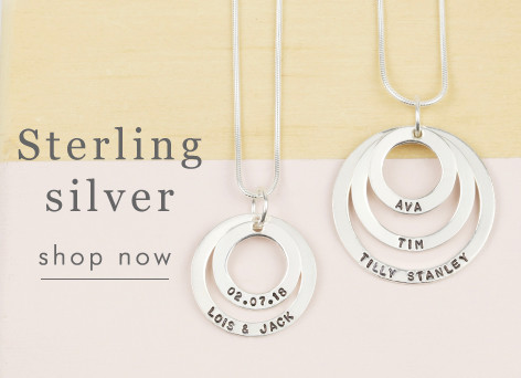 Personalised sterling silver ring necklace - shop sterling silver jewellery >>