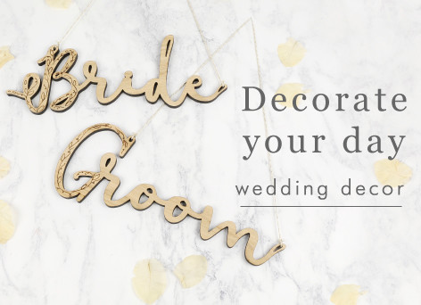 Bride and groom decorations - shop wedding decorations >>