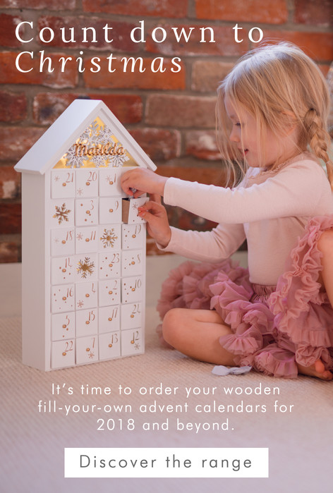 Personalised fill your own advent calendars - Shop 2018 advent calendars >>