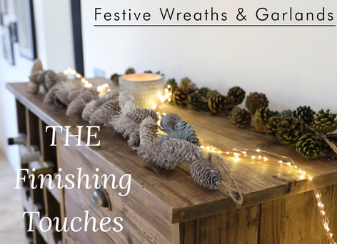 Christmas pinecone garlands - Shop wreaths and garlands >>
