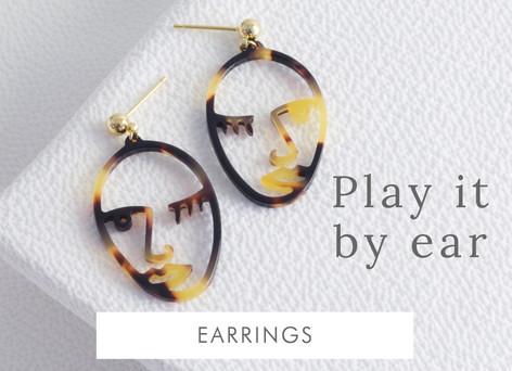 Acrylic face earrings - Shop earrings >>