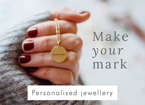 Personalised organic necklace - Shop personalised jewellery >>