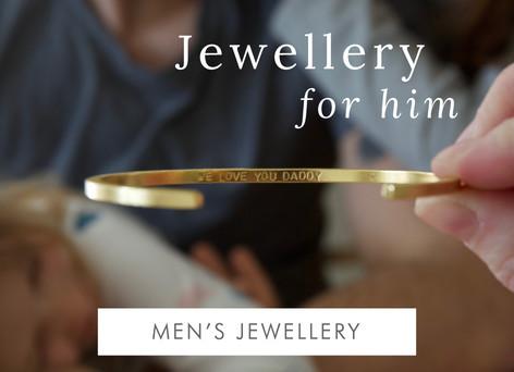 Jewellery for him - Shop men's jewellery >>