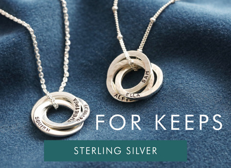 Sterling Silver jewellery - Shop sterling silver gifts >>