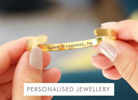 Hand-stamped jewellery - Shop personalised jewellery >>