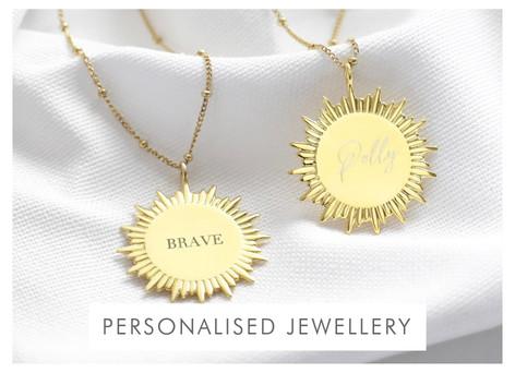 Personalised sunbeam necklace - Shop personalised jewellery >>