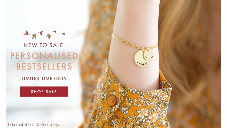 Personalised bestsellers sale - Shop 20% off >>