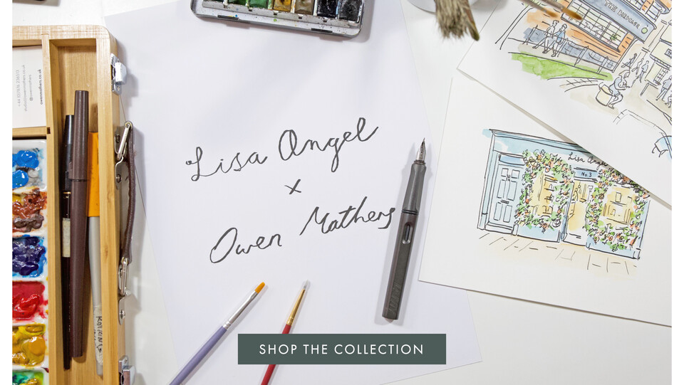 Lisa Angel x Owen Mathers Collaboration - Shop Norwich Illustrated accessories >>