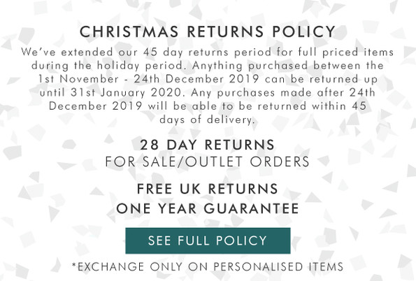 Free returns on everything - view the full returns policy