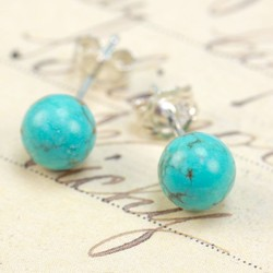 Small Turquoise Stud Earrings (6mm)