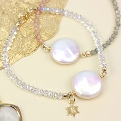 Personalised Coin Pearl Bracelet